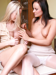 Venessa playing around with Brunette
