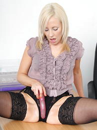 Hot pics of Clair playing with vibrator