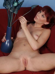 Yummy unused redhead pulls her sexy disregard a close thongs off