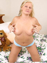 Fatty plays nearly her jugs and takes panties absent