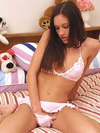 Delicious joyless posing in tiny pink G-strings