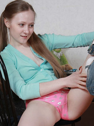 Tiny teen takes retire from her bra surrounding the addition of plays surrounding panties