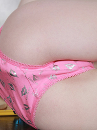 Tiny teen takes retire from her bra in a difficulty addition of plays in panties