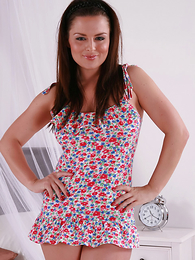 Charlotte looks very playful in this curt summer minidress, and what defiant X smalls she has underneath!