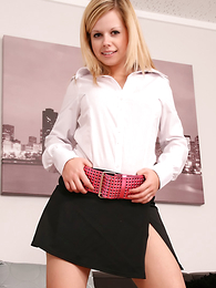 Amy flashes say no to sexy cream satin pantalettes and say no to cheeky smile on the couch in this fab new girl-next-door update! Matt.