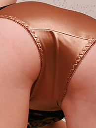 Jodie wholly likes wearing shiny satin panties, saying lose concentration the sky of the material against her skin makes her sky sexy with the addition of horny.. I reckon we on all sides of agree with her on that! Matt.
