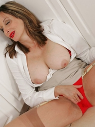 Red-hot panty jerk off
