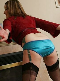 Jerk off with respect to my shiny panties