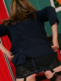 Scalding adult secretary nigh stockings