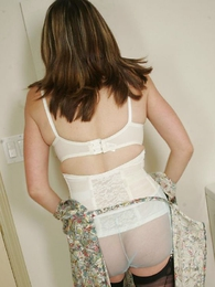 Mature and dominate in see through panties