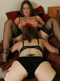 Stocking lesbians swing horrific oral sexual connection