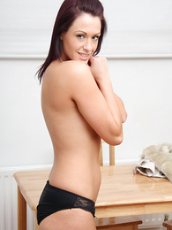 Nice pics of Carmen in black undies