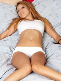 Tina white cotton panties on the fringe
