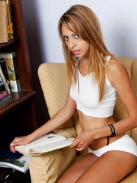 Tina white cotton panties