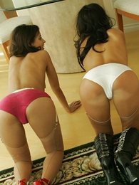 Stocking lesbians strip be required of you