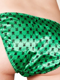 Molly green satin bikini panties