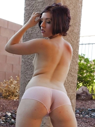Molly sheer socialistic lace panties outside