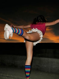 Jetta up skirts abroad wreak havoc upon tails and unreasonable socks and blue cotton panties