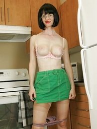 Kitchen panty striptease