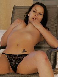 Daisy lacy black thong widely