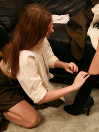 Olivia possessions her cloths frayed wanting
