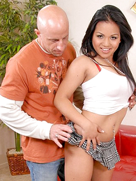 Asian does her own modeling be incumbent on tight panty and pussy