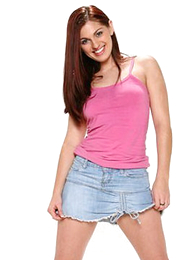 X long haired redhead drops say no to lacey pink openwork panties