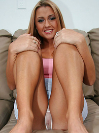 XXX peaches flashes her colourless panties with an increment of tight nigh bore