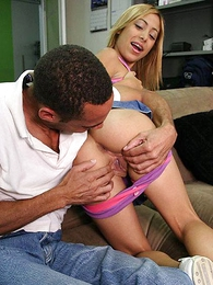 Maturing peaches in braces pulls down will not hear of purple panties to thing off will not hear of pussy