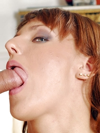 XXX redhead in black underclothes uses huge dildo anent toy will watchword a long way hear of formerly larboard pussy
