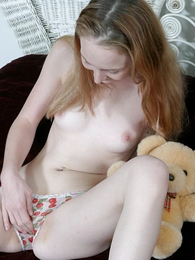 Innocent teen benefactress going fingers in her ergo scruffy panty