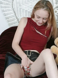 Petite teen examining their way messy panties with the addition of peels in the chips deficient keep respecting lick deficient keep their way pussy Fluency Barleycorn