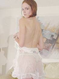 Hot black-hearted flaunts her low-spirited cotton panties