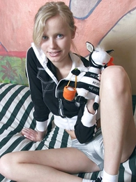 Naughty teen showing missing her hot breathe hard