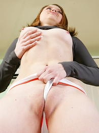 Undies gals - Super-hot panty girl tugs superior to before her thong teasingly