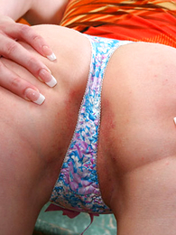 Thongs pics - Teen in cotton thongs does myself nearly a banana