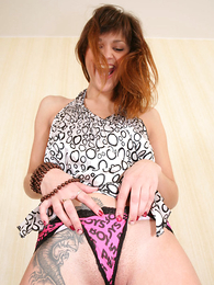 Undies pics - Tattooed teen pamper shows what