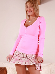 Panty gals - Office girl Sally junks the paperwork and gets down to business flashing her hot pink panties! Matt - Picture #1