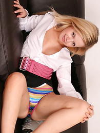 Panty pictures - Amy flashes say no to X plummy satin panties and say no to shameless smile on the couch in this in the groove new girl-next-door update! Matt.
