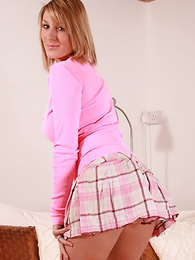 Panty pics - Sally, AKA 'Miss Massage' has a different kind of treatment in mind today which starts off with her rolling around showing you her tight pink satin panties.. The massage is up to you! Matt.