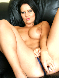 Undies pictures - Sexy Amber bringing off with red dildo scan blue undershorts