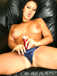Thongs pics - Sexy Amber bringing off with red dildo scan blue undershorts