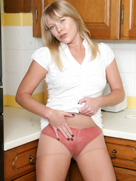 Panty photos - Bachelor girl feeling and playing nearby dildo under glum red In US breeks