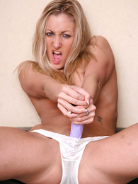Undies gals - Angel playing respecting purple dildo almost washed out wheeze crave