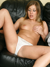 Panty pictures - Karen bringing off with her dildo
