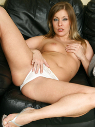 Thongs pics - Karen playing with will not hear of dildo