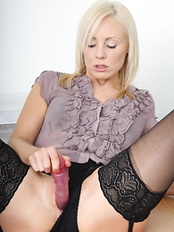 Girl in panties pics - Pics of Clair using her left-hand vibrator