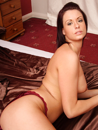Teen in panties pics - Carmen handsome off red nightie involving show off colour drawers