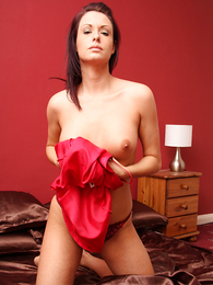 Panty galleries - Carmen handsome off red nightie involving show off colour drawers