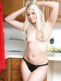 Undies photos - Donna stripping  down to white knickers